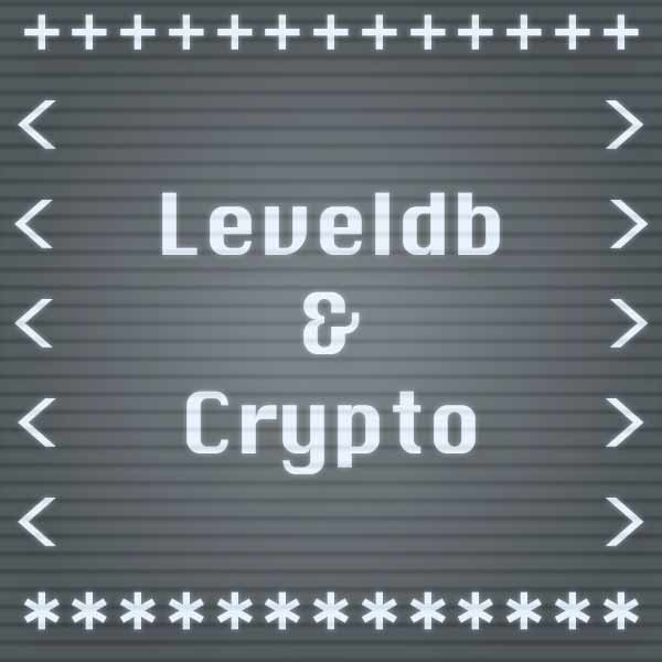 Leveldb and Crypto